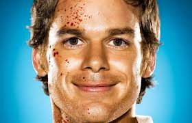 Dex blood on face
