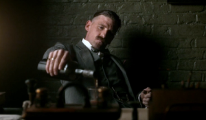 Arthur pours rum